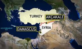 Map Siria Turcia