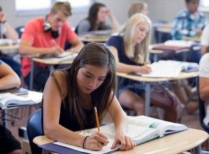 USA, Utah, Spanish Fork, Students (14-17) at school
