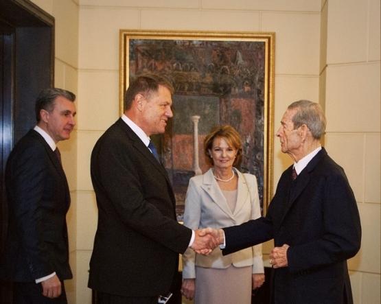 Familia Regală A  României  cu Presedintele României  Klaus Iohannis