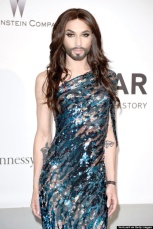CAP D'ANTIBES, FRANCE - MAY 22:  Conchita Wurst attends amfAR's 21st Cinema Against AIDS Gala Presented By WORLDVIEW, BOLD FILMS, And BVLGARI at Hotel du Cap-Eden-Roc on May 22, 2014 in Cap d'Antibes, France.  (Photo by Venturelli/WireImage)