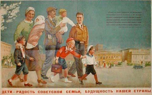 soviet-poster-family