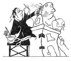 Alex Ștefănescu, desen de Linu